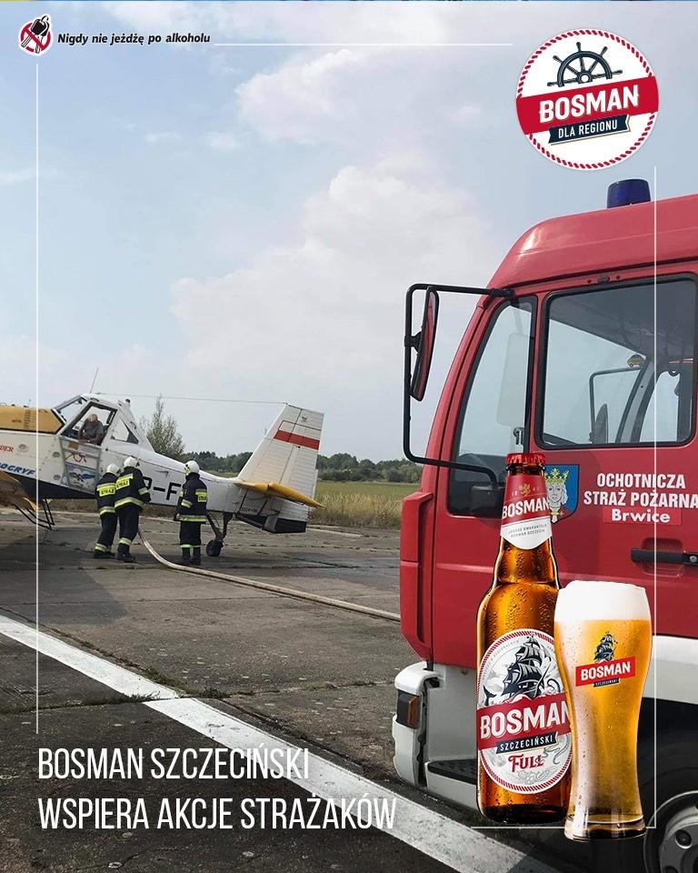 """Ochotnicza Straż Pożarna Brwice doposażona w ramach programu grantowego """"Bosman dla regionu""""."""