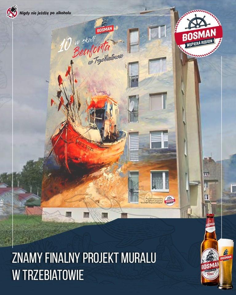 Wiemy, jak będzie finalnie wyglądał nowy mural w Trzebiatowie