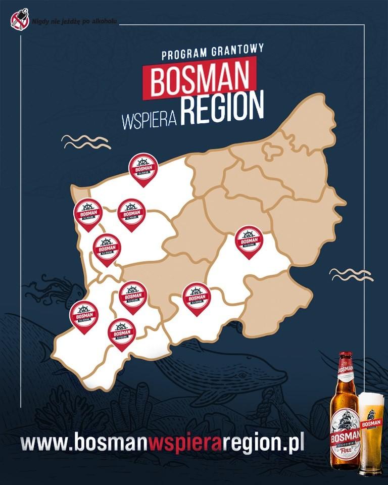 """Dziś  ruszamy z II -ą nową edycją programu grantowego """"Bosman wspiera region"""""""