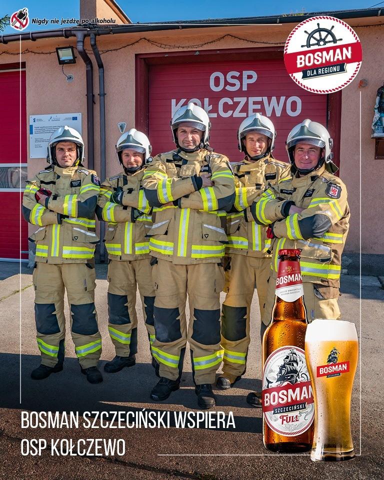 Strażacy z OSP Kołczewo otrzymali nowe specjalistyczne umundurowanie